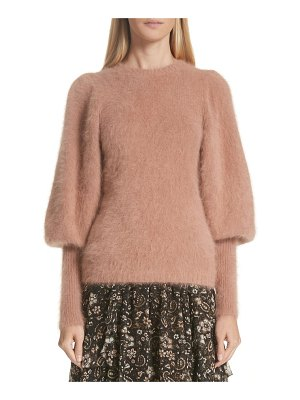 Ulla Johnson labelle puff sleeve angora blend sweater