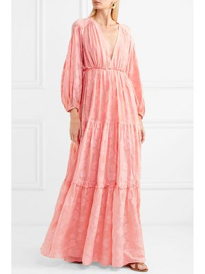 Ulla Johnson margaux fil coupé silk and cotton-blend chiffon maxi dress
