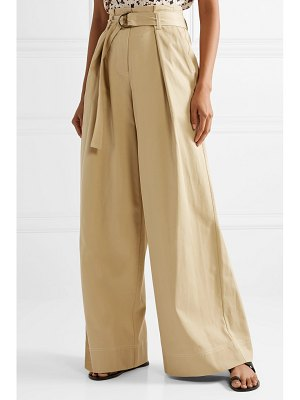 Ulla Johnson rhodes tencel and cotton-blend twill wide-leg pants