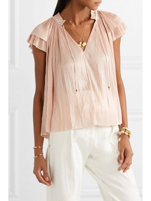 Ulla Johnson sade plissé-satin top
