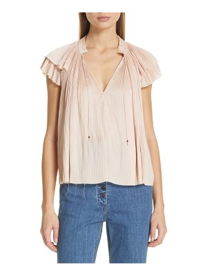 Ulla Johnson sade ruffle sleeve top