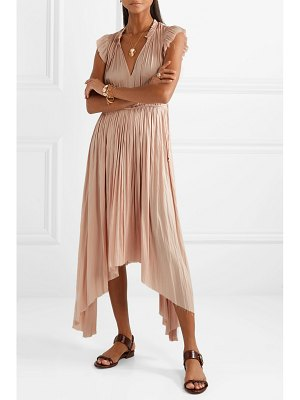Ulla Johnson senna asymmetric satin midi dress