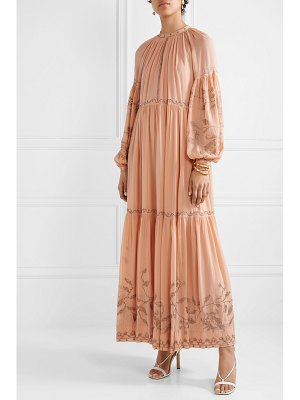 Ulla Johnson tiana embroidered silk-georgette gown
