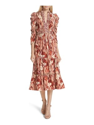 Ulla Johnson ziggy velvet midi dress
