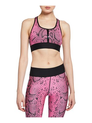 Ultracor Terrain Python-Print Sports Bra