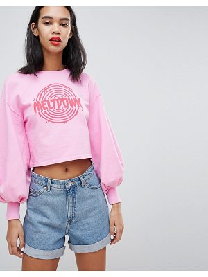 Uncivilised meltdown balloon sleeve sweater