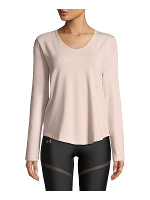 Under Armour Pindot Open-Back Long-Sleeve Activewear Top