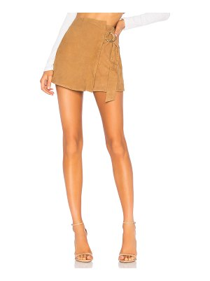 Understated Leather Ultimate suede mini wrap skirt