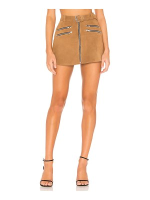 Understated Leather Ultimate x revolve mini zip skirt