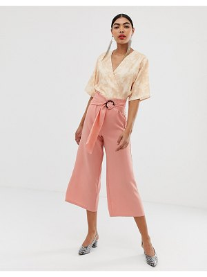 UNIQUE21 flared culotte with belt buckle