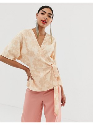 UNIQUE21 unique 21 jacquard wrap top
