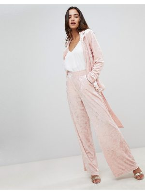 UNIQUE21 unique 21 velvet wide leg pants two-piece