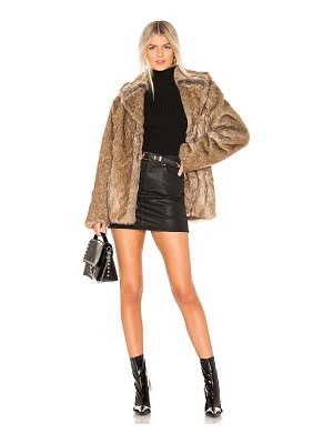 Unreal Fur Earth Star Faux Fur Jacket