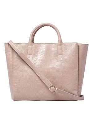 Urban Originals my world croc-embossed vegan leather tote