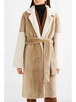 UTZON reversible paneled shearling coat