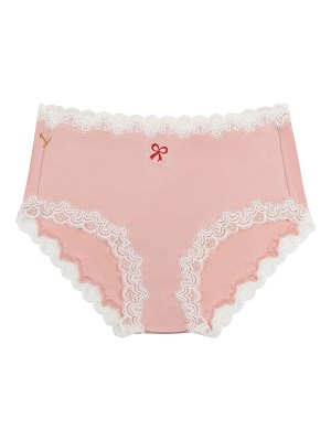 Uwila Warrior Soft Silk Brief w/ Lace & Red Bow