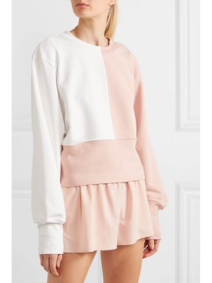 Vaara maeve paneled cotton-blend jersey sweatshirt