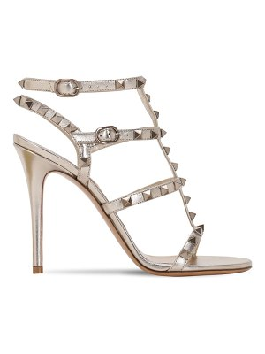 Valentino 105mm rockstud metallic leather sandals