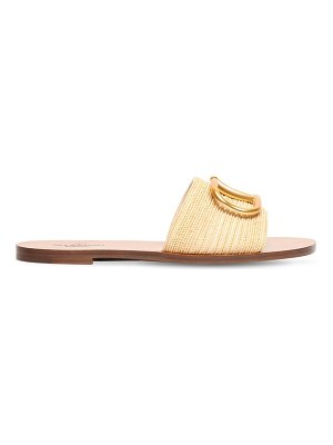Valentino 10mm vlogo woven cotton sandals