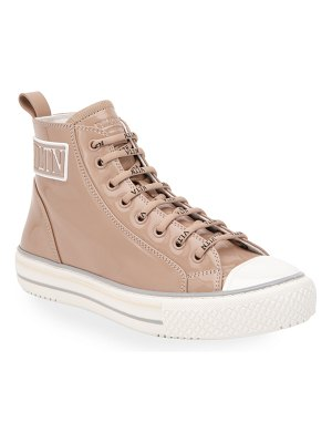 Valentino 25mm VLTN Patent High-Top Sneakers