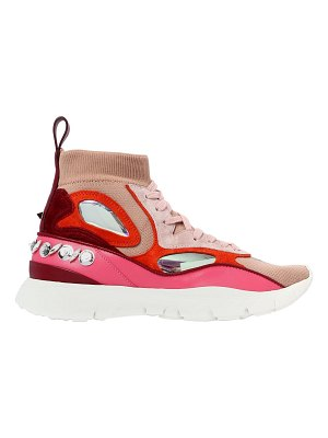 Valentino 30mm heros her embellished knit sneakers