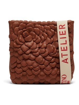 Valentino atelier petal-effect leather cross-body bag