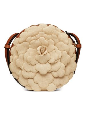 Valentino atelier round petal-effect canvas cross-body bag