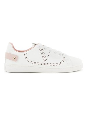 Valentino backnet v-logo leather trainers