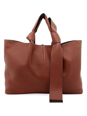 Valentino East-West Calf Leather Tote Bag
