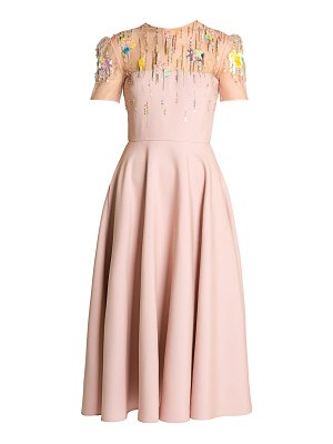 Valentino embellished tulle midi dress