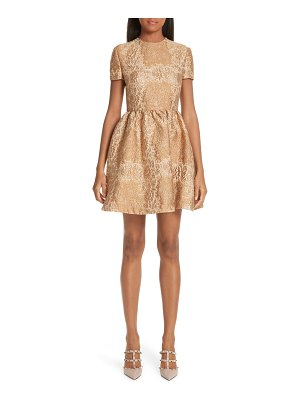 Valentino floral metallic brocade dress
