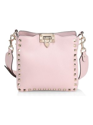 Valentino garavani mini rockstud leather hobo bag