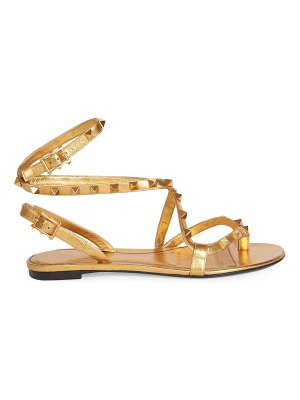 Valentino garavani rockstud flair ankle-strap leather thong sandals