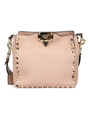 Valentino garavani rockstud leather hobo bag