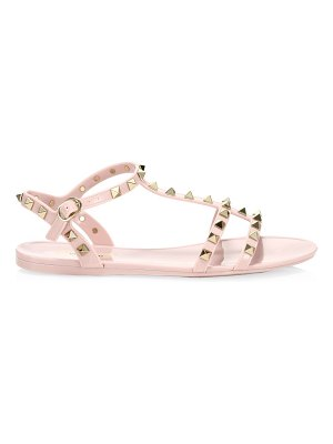 Valentino rockstud jelly gladiator sandals