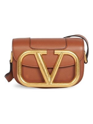 Valentino garavani small supervee leather saddle bag
