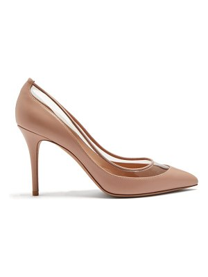 Valentino Glassglow Detachable Bow Leather Pumps