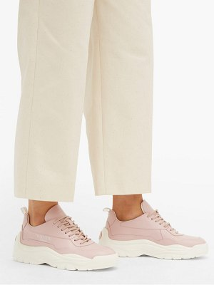 Valentino gumboy raised sole leather low top trainers