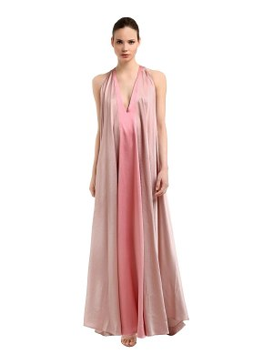 Valentino Hammered satin long dress