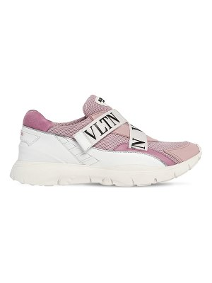 Valentino Heroes her vltn mesh & leather sneakers