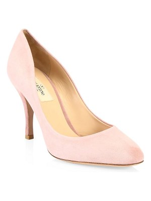 Valentino killer studs suede pumps
