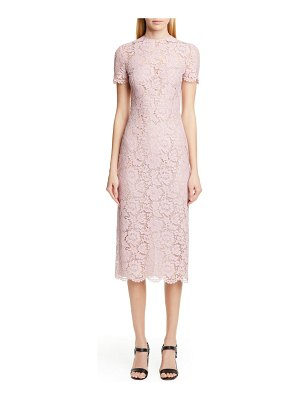 Valentino lace midi sheath dress