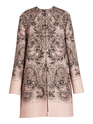 Valentino lace print car coat
