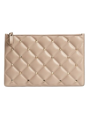 Valentino large candystud leather pouch