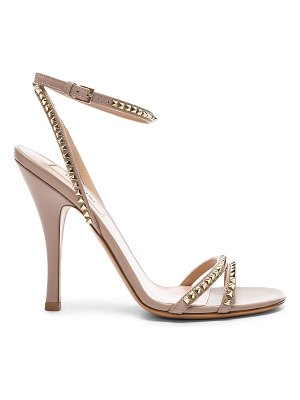 Valentino Leather Rockstud No Limit Ankle Strap Sandals