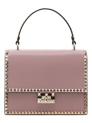 Valentino leather rockstud top handle bag