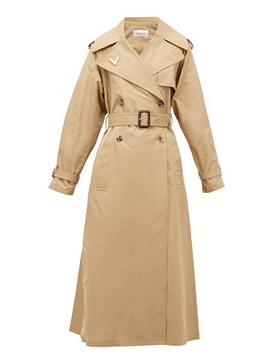 Valentino logo-plaque cotton trench coat