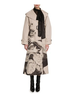 Valentino Lovers Graphic Gabardine Trench Coat