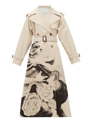 Valentino lovers print cotton gabardine trench coat
