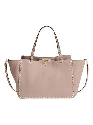 Valentino medium rockstud leather double handle tote